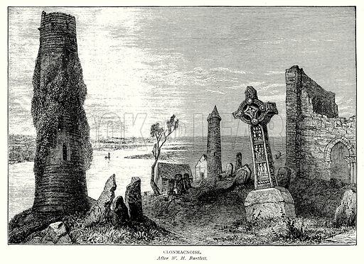 Clonmachnoise. Illustration from A Short History of the English People by J R Green (Macmillan, 1892).