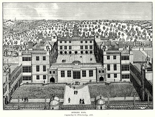 Audley End. Illustration from A Short History of the English People by J R Green (Macmillan, 1892).
