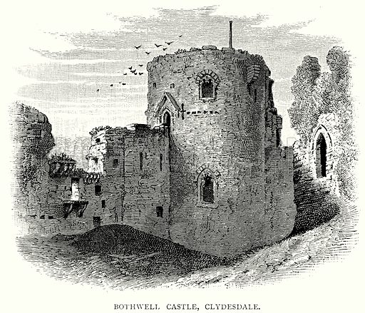 Bothwell Castle, Clydesdale. Illustration from A Short History of the English People by J R Green (Macmillan, 1892).