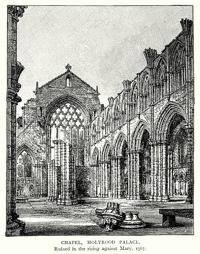 Chapel, Holyrood Palace. Illustration from A Short History of the English People by J R Green (Macmillan, 1892).