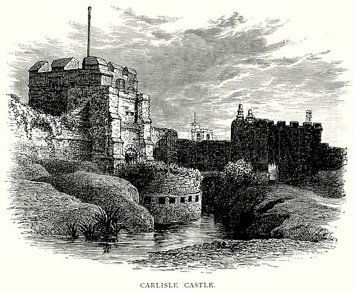 Carlisle Castle. Illustration from A Short History of the English People by JR Green (Macmillan, 1892).