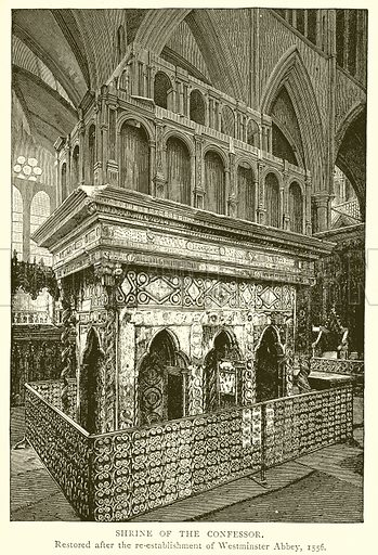 Shrine of the Confessor. Illustration from A Short History of the English People by J R Green (Macmillan, 1892).