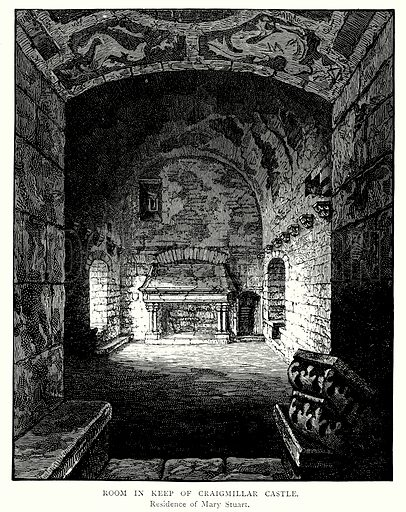 Room in Keep of Craigmillar Castle. Illustration from A Short History of the English People by J R Green (Macmillan, 1892).
