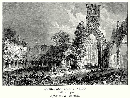 Dominican Friary, Sligo. Illustration from A Short History of the English People by J R Green (Macmillan, 1892).