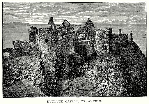 Dunluce Castle, Co. Antrim. Illustration from A Short History of the English People by J R Green (Macmillan, 1892).