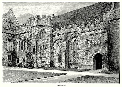 Penshurst. Illustration from A Short History of the English People by JR Green (Macmillan, 1892).