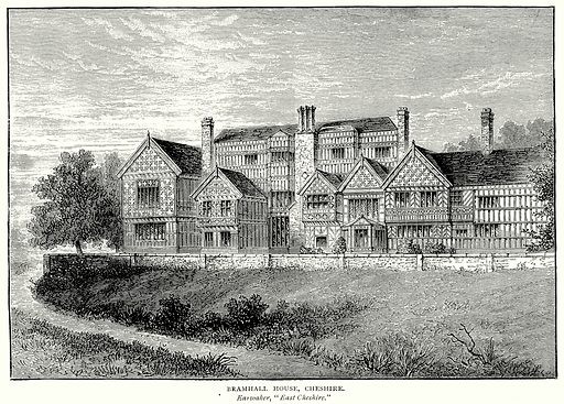 Bramhall House, Cheshire. Illustration from A Short History of the English People by J R Green (Macmillan, 1892).