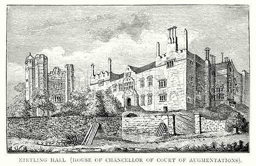 Kirtling Hall (House of Chancellor of Court of Augmentations). Illustration from A Short History of the English People by J R Green (Macmillan, 1892).