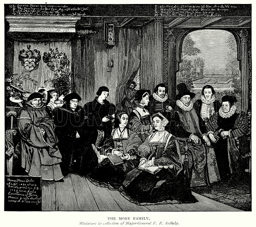 The More Family. Illustration from A Short History of the English People by JR Green (Macmillan, 1892).