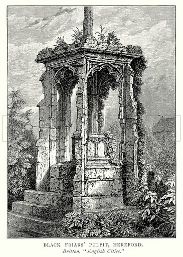 Black Friars' Pulpit, Hereford. Illustration from A Short History of the English People by J R Green (Macmillan, 1892).