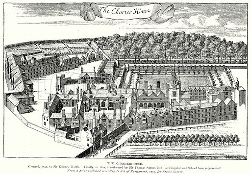 The Charterhouse. Illustration from A Short History of the English People by J R Green (Macmillan, 1892).