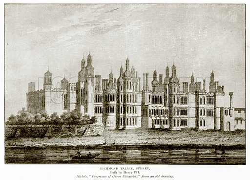 Richmond Palace, Surrey. Illustration from A Short History of the English People by J R Green (Macmillan, 1892).