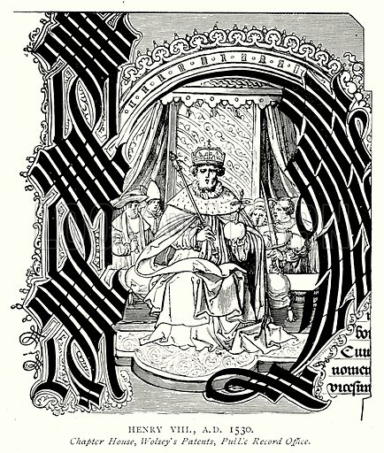 Henry VIII, A.D. 1530. Illustration from A Short History of the English People by J R Green (Macmillan, 1892).
