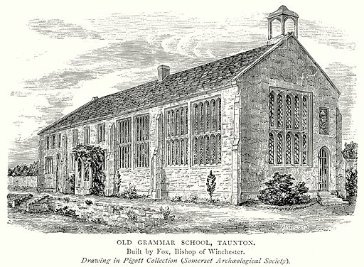 Old Grammar School, Taunton. Illustration from A Short History of the English People by J R Green (Macmillan, 1892).
