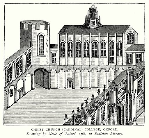 Christ Church (Cardinal) College, Oxford. Illustration from A Short History of the English People by J R Green (Macmillan, 1892).