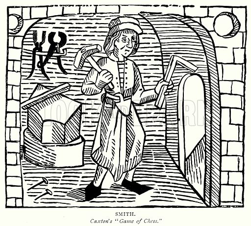 Smith. Illustration from A Short History of the English People by J R Green (Macmillan, 1892).