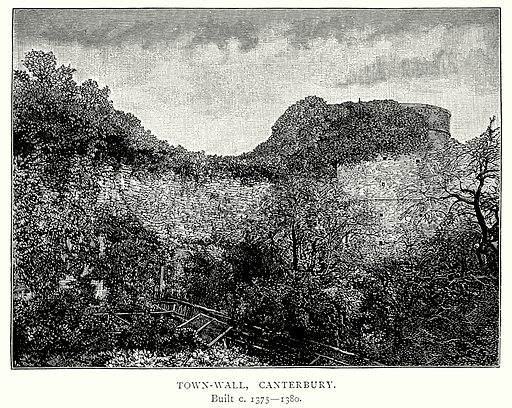 Town-Wall, Canterbury. Illustration from A Short History of the English People by J R Green (Macmillan, 1892).