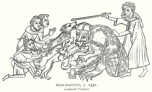 Bear-Baiting, c. 1340. Illustration from A Short History of the English People by J R Green (Macmillan, 1892).