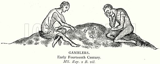 Gamblers. Illustration from A Short History of the English People by J R Green (Macmillan, 1892).