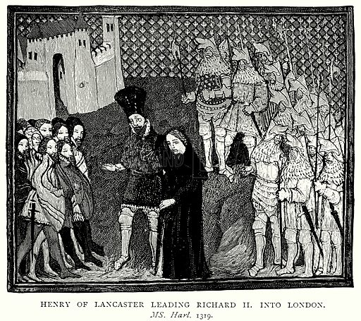 Henry of Lancaster leading Richard II into London. Illustration from A Short History of the English People by JR Green (Macmillan, 1892).