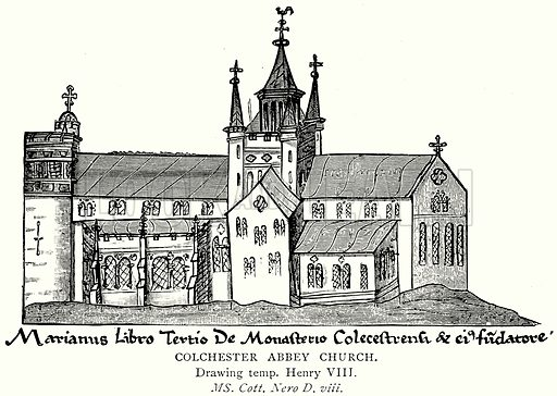 Colchester Abbey Church. Illustration from A Short History of the English People by JR Green (Macmillan, 1892).