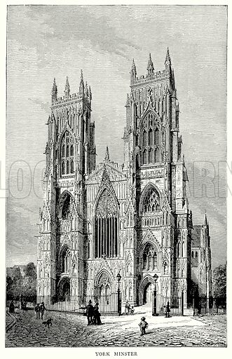 York Minster. Illustration from A Short History of the English People by J R Green (Macmillan, 1892).