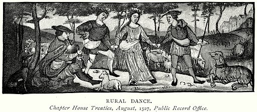Rural Dance. Illustration from A Short History of the English People by J R Green (Macmillan, 1892).