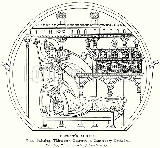Becket's Shrine. Illustration from A Short History of the English People by J R Green (Macmillan, 1892).