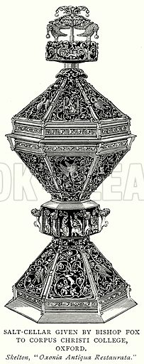 Salt-Cellar given by Bishop Fox to Corpus Christi College, Oxford. Illustration from A Short History of the English People by J R Green (Macmillan, 1892).