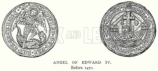 Angel of Edward IV. Illustration from A Short History of the English People by J R Green (Macmillan, 1892).