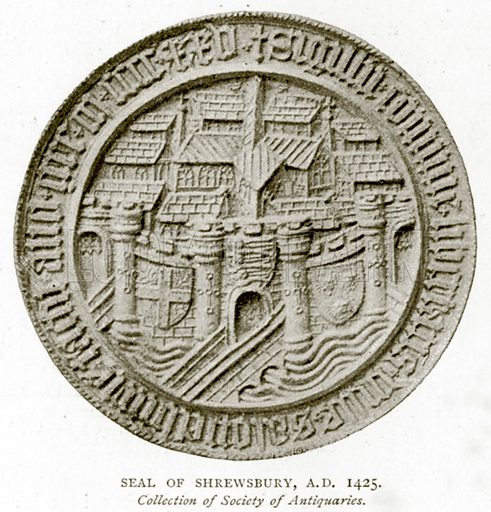 Seal of Shrewsbury, A.D. 1425. Illustration from A Short History of the English People by J R Green (Macmillan, 1892).