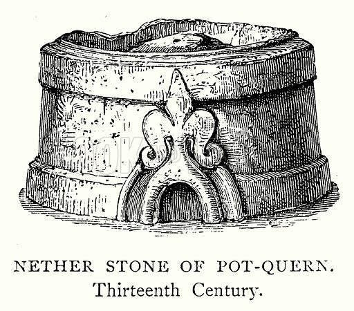 Nether Stone of Pot-Queen. Illustration from A Short History of the English People by J R Green (Macmillan, 1892).