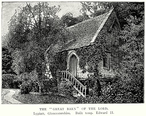 """The """"Great Barn"""" of the Lord. Illustration from A Short History of the English People by JR Green (Macmillan, 1892)."""