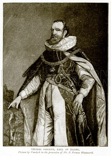 Thomas Osborne, Earl of Danby. Illustration from A Short History of the English People by J R Green (Macmillan, 1892).