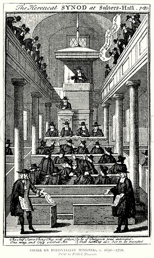 Satire on Presbyterian Ministers, c. 1690--1710. Illustration from A Short History of the English People by J R Green (Macmillan, 1892).