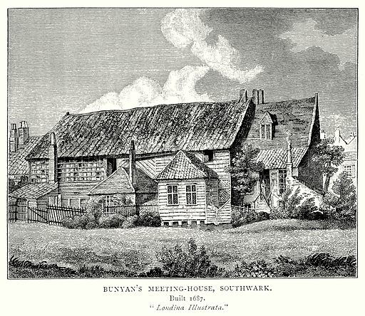 Bunyan's Meeting-House, Southwark. Illustration from A Short History of the English People by J R Green (Macmillan, 1892).