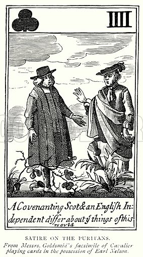 Satire on the Puritans. Illustration from A Short History of the English People by J R Green (Macmillan, 1892).