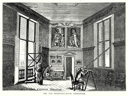 The Old Observing-Room, Greenwich. Illustration from A Short History of the English People by J R Green (Macmillan, 1892).