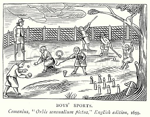 Boy's Sports. Illustration from A Short History of the English People by J R Green (Macmillan, 1892).