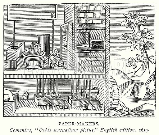 Paper-Makers. Illustration from A Short History of the English People by J R Green (Macmillan, 1892).