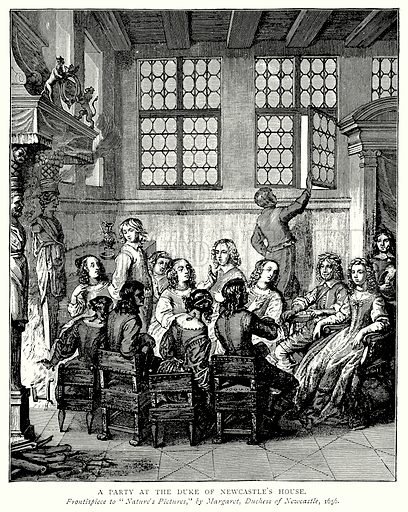 A Party at the Duke of Newcastle's House. Illustration from A Short History of the English People by J R Green (Macmillan, 1892).