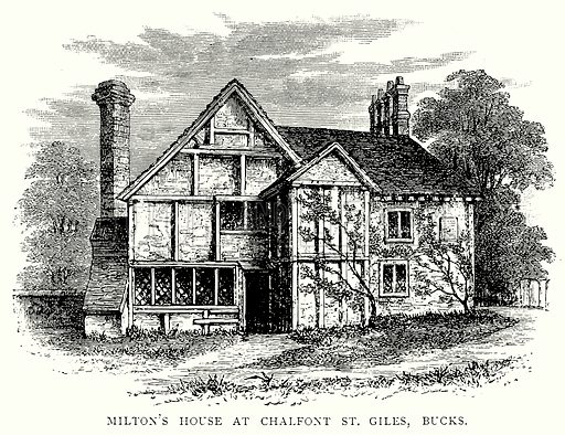 Milton's House at Chalfont St Giles, Bucks. Illustration from A Short History of the English People by JR Green (Macmillan, 1892).
