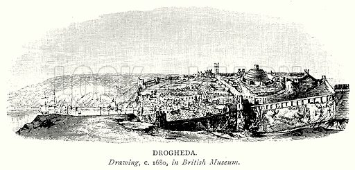 Drogheda. Illustration from A Short History of the English People by JR Green (Macmillan, 1892).