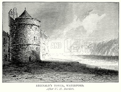 Reginald's Tower, Waterford. Illustration from A Short History of the English People by J R Green (Macmillan, 1892).