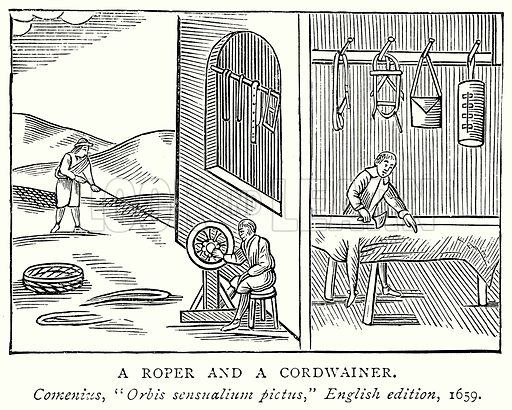 A Roper and a Cordwainer. Illustration from A Short History of the English People by J R Green (Macmillan, 1892).