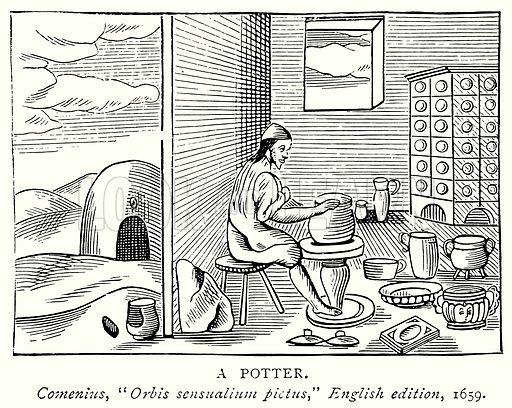 A Potter. Illustration from A Short History of the English People by J R Green (Macmillan, 1892).