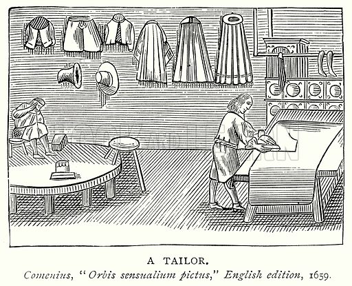 A Tailor. Illustration from A Short History of the English People by J R Green (Macmillan, 1892).