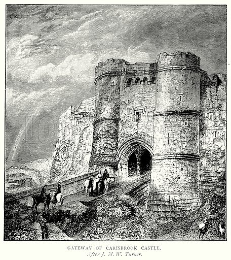 Gateway of Carisbrook Castle. Illustration from A Short History of the English People by J R Green (Macmillan, 1892).