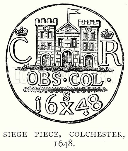 Siege Piece, Colchester, 1648. Illustration from A Short History of the English People by J R Green (Macmillan, 1892).