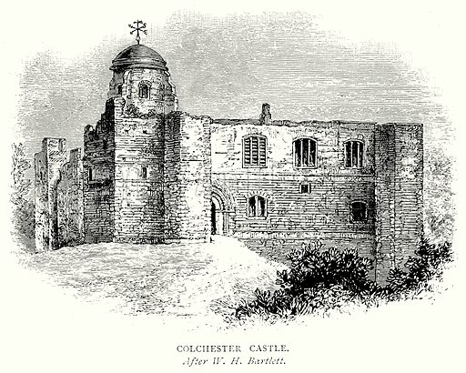 Colchester Castle. Illustration from A Short History of the English People by JR Green (Macmillan, 1892).